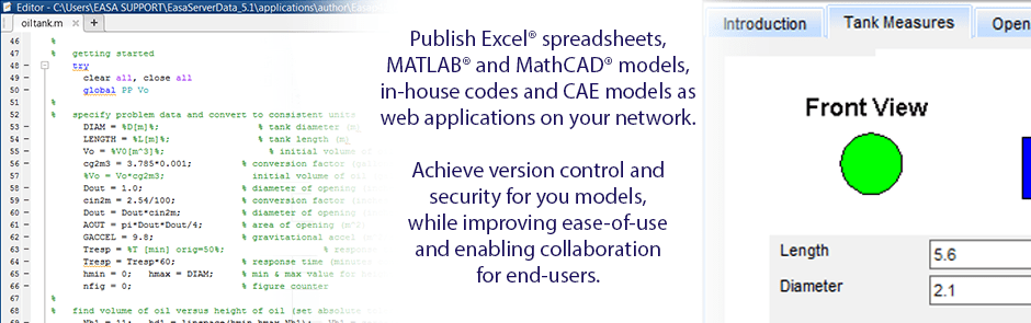"""Appification"" of Excel & MATLAB into enterprise simulation tools"